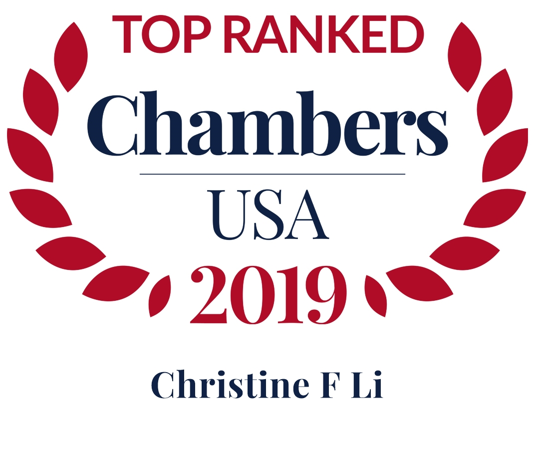 Christine F. Li Ranked in Chambers USA 2019