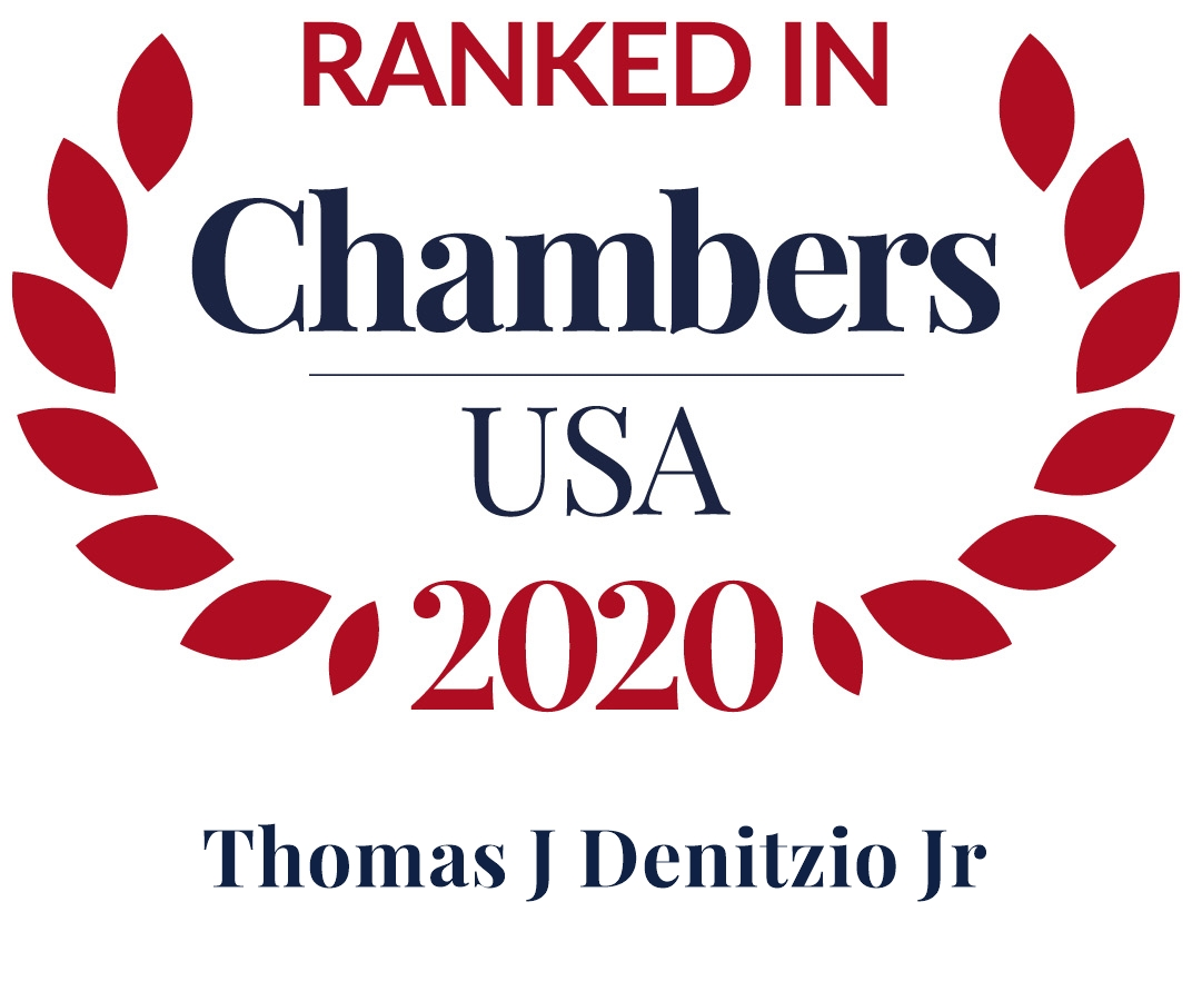 Thomas J. Denitzio, Jr. Ranked in Chambers USA 2020