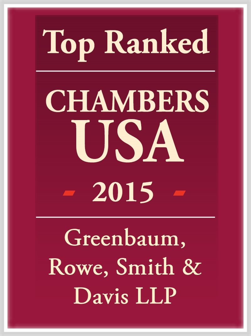 Greenbaum, Rowe, Smith & Davis LLP Top Ranked in CHambers USA 2015