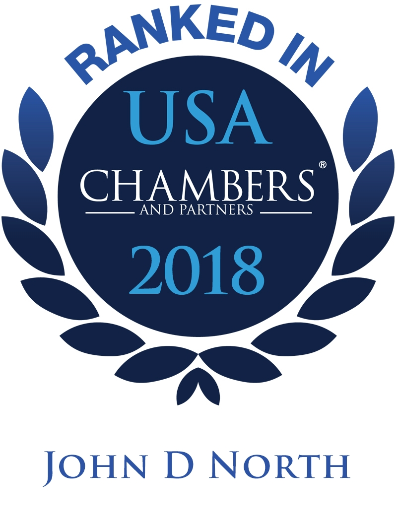 John D. North Ranked In Chambers USA 2018