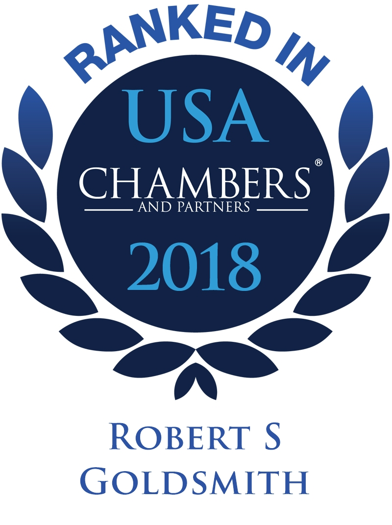 Robert S. Goldsmith Ranked In Chambers USA 2018