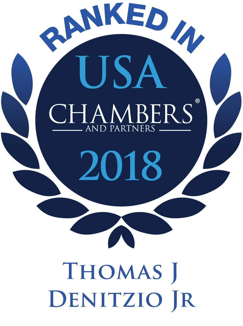 Thomas J. Denitzio, Jr. Ranked in Chambers 2018